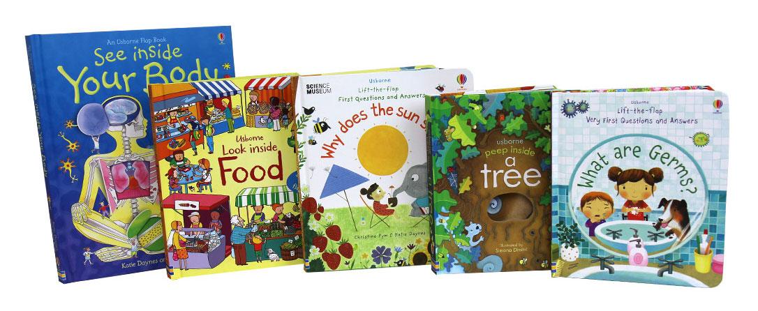 <p>获奖无数的尤斯伯恩看里面系列和科普翻翻书帮助不同年龄的孩子学习有趣的科目,同时增进他们的英文能力。</p>